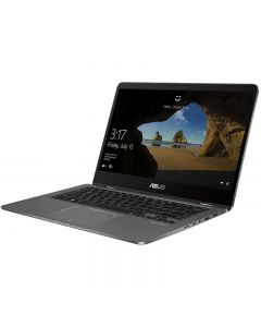 Laptop 2-in-1 ASUS 14'' ZenBook Flip 14 UX461FA, FHD Touch, Procesor Intel® Core™ i5-8250U (6M Cache, up to 3.40 GHz), 8GB, 256GB SSD, GMA UHD 620, Win 10 Pro, Slate Gray