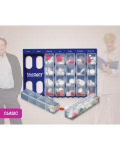 Organizator medicamente Clasic L, în Română
