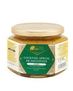 Cocktail apicol pentru imunitate copii din miere, polen, propolis, laptisor de matca ApiLife - 125g