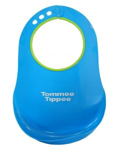 Baveta plastic cu buzunar, bleu, Tommee Tippee