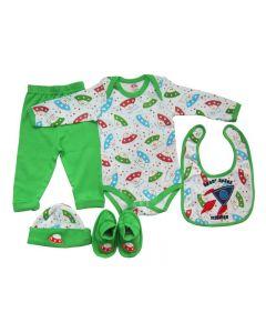 Set cadou bebe 5 piese, PP14535ML, verde, Primii Pasi, 0-6luni