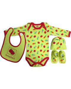 Set cadou bebe 4 piese, Primii Pasi, 0-6 luni