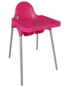Scaun masa copil, SM01, roz, Primii Pasi