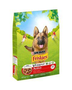 Friskies ACTIVE cu vita, hrana uscata pentru caini, 10kg