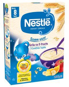Cereale Nestle Somn usor Grau cu 5 Fructe, 250g, de la 8 luni