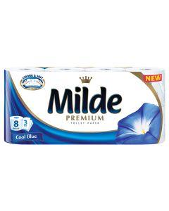 Hartie igienica Milde Cool Blue, 8 role, 3 straturi