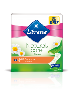 Absorbante zilnice Libresse Natural Care Normal, 40 bucati