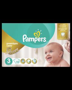 Scutece Pampers Premium Care, Marime 3, 5-9 kg, 120 buc
