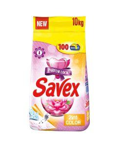 Detergent automat pudra Savex Parfum Lock 2in1 Color, 100 spalari, 10 kg