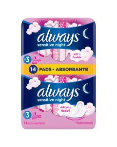 Absorbante Always Ultra Sensitive Night, 14 buc