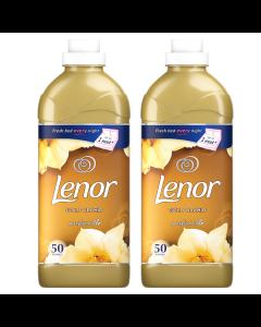Balsam de rufe Lenor Gold Orchid, 2 x 50 spalari, 2 x 1.5 L