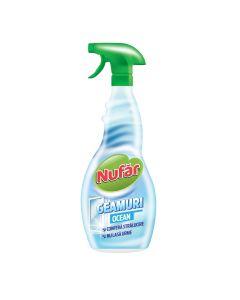 Detergent de geamuri pulverizator Nufar Ocean, 500 ml