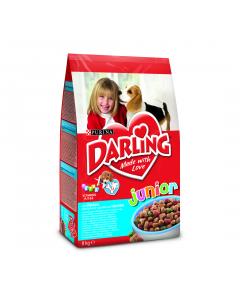 Darling JUNIOR cu pui, Hrana Uscata pentru caini, 8 kg