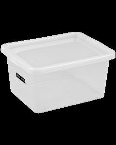 Cutie depozitare + capac, 48l, transparenta