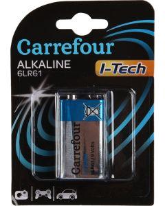 Baterie I-Tech Alkalina 6LR61 , Carrefour