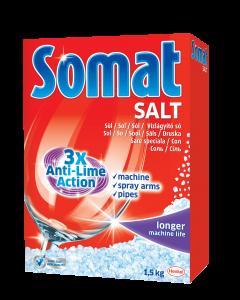 Sare dedurizanta pentru masina de spalat vase Somat 3X Action, 1.5 kg