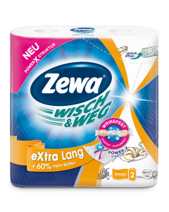 Role bucatarie Zewa Wisch&Weg Design 2 straturi, 2 role