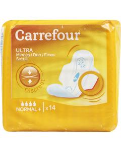 Absorbante igienice Carrefour, 14 buc