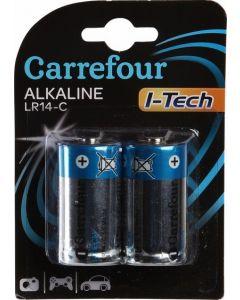 Set x 2 baterii LR14 I-Tech, Carrefour