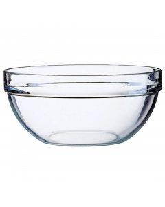 Bol 17 cm suprapozabil sticla transparenta