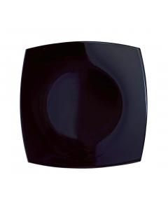 Farfurie intinsa 19 cm, Opal Quadrato, negru, Luminarc