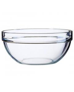 Bol 26 cm suprapozabil sticla transparenta