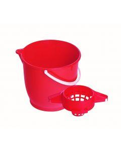 Galeata plastic, capacitate 15L, culoare rosu, Cyclops