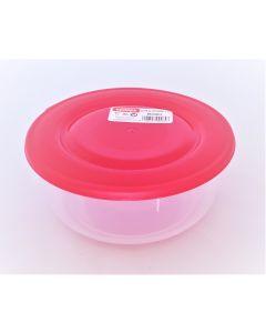 Cutie alimente rotunda, capacitate 1L, culoare rosu, Cyclops
