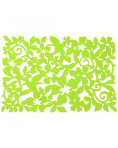 Placemat 30x118 cm verde flori