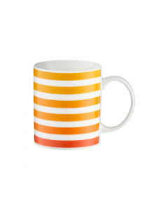 Cana portelan 350 ml Orange Stripes