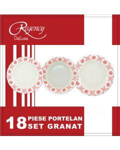 Set 18 piese portelan, Granat