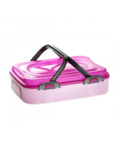 Dolce cutie cu maner transport prajituri, violet
