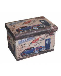 Taburet design 48x32 cm, Vintage