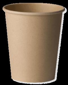 Set 15 pahare biodegradabile 120 ml, Kraft