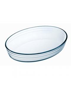 Vas oval termorezistent 30x21x6 cm, 2 L, Pyrex