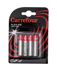 Set x 4 baterii AAA, Carrefour