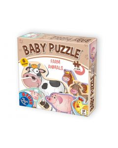 Baby puzzle Animale domestice - 2,3,4 piese