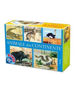 Joc romanesc Nicolau-Animale din continente, D-Toys
