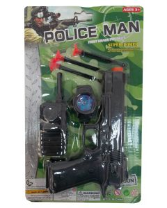Pistol cu accesorii politie