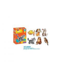 Joc puzzle cu animale, model 3