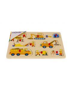 Puzzle din lemn cu tinte - Vehicule
