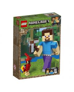 LEGO Minecraft - Steve BigFig cu papagal