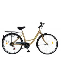 Bicicleta Urban City dama V2636A crem, Velors