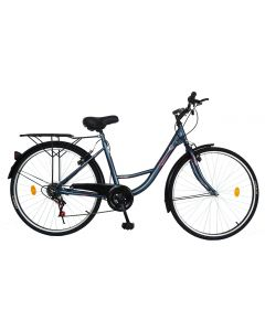 Bicicleta Urban City dama V2636A albastru, Velors