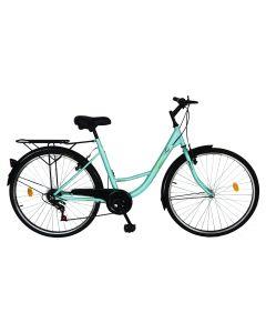 Bicicleta Urban City dama V2636A verde, Velors