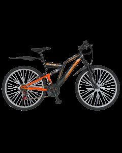 Bicicleta MTB Full Suspension R2649A negru/portocaliu, Rich