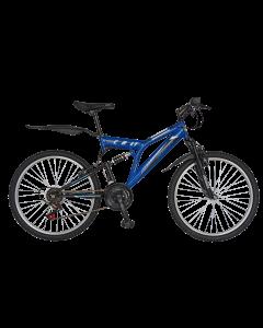 Bicicleta MTB Full Suspension R2449A albastru/negru, Rich
