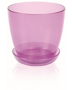 Ghiveci + suport orhidee, Roz transparent, 3L