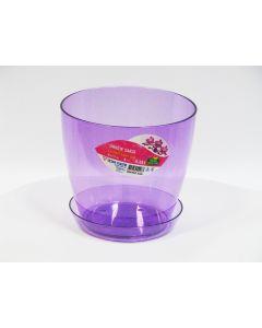 Ghiveci + suport orhidee, Violet transparent, 1.5L