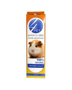 Baton cu miere pentru rozatoare 90 gr, 4Pet